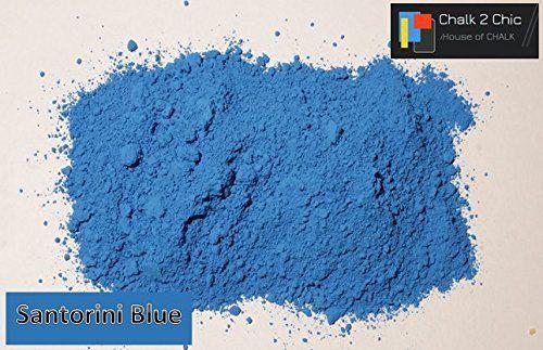 CP30–Santorini azul– fácil pintura de tiza 311 g (látex Shabby Chic, polvo de pintura, pigmento): Amazon.es: Hogar