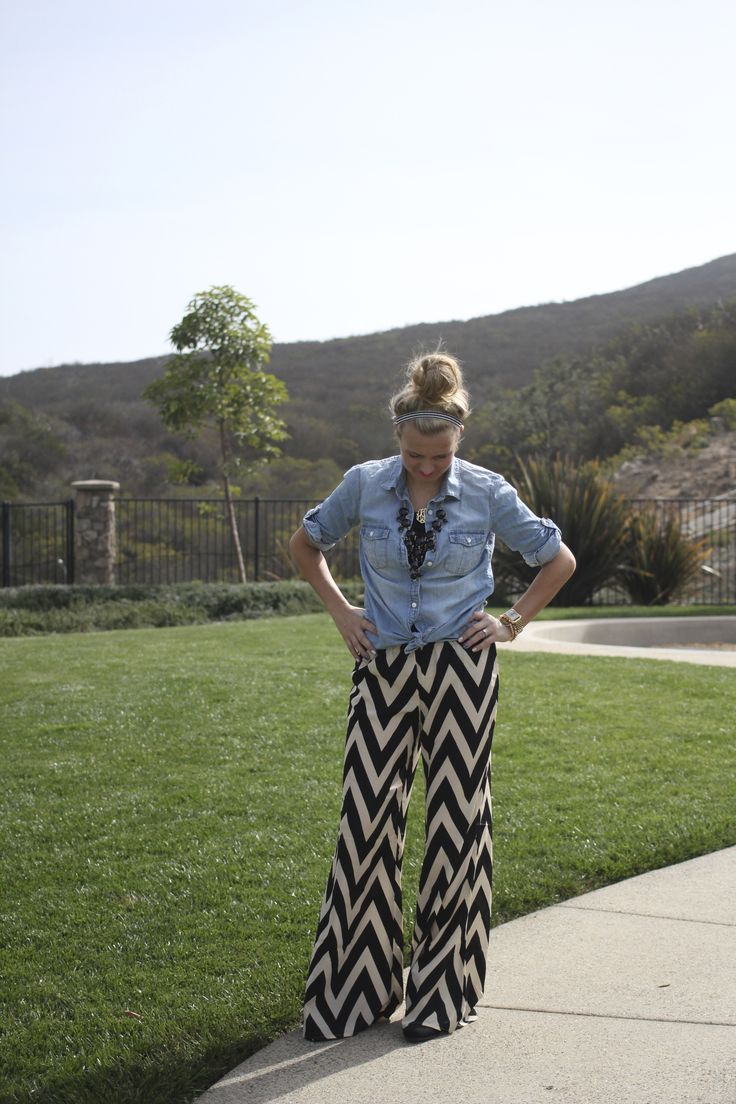 "It's no surprise to most of you that I am a big fan of fun, printed pants, otherwise known as ""fancy pants"" around these parts. When I first saw these pants at Ella Madison, I saw endless outfit possibilities. Fancy chevron pants...I mean how fun are they?!!! The possibilities are endless with ... - http://www.fancyashley.com/2013/11/12/fancy-chevron-pants/"