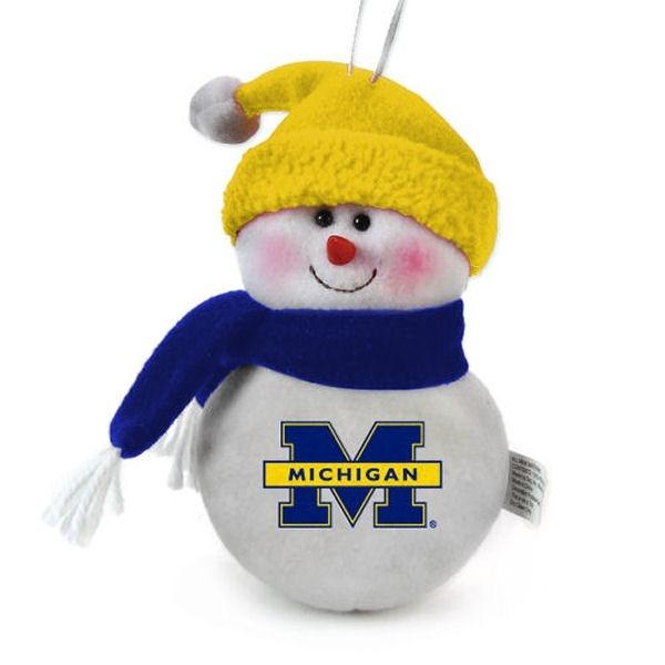 Michigan Wolverines 6' Team Snowman Plush Ornament