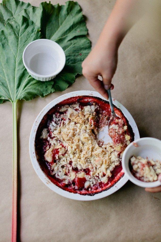 Strawberry Rhubarb Dump Cake | h a r v e s t.