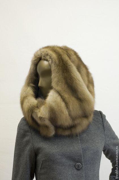 """Шапки ручной работы. Ярмарка Мастеров - ручная работа. Купить Меховая шапка """"Кокон"""". Handmade. Бежевый, головной убор"""