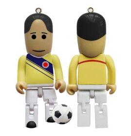 Para este mundial de futbol 2014 la USB Mundialista hecha en plástico en forma de futbolista, es la ideal para que guardes y lleves tus datos a todas partes. Lúcete con ella.