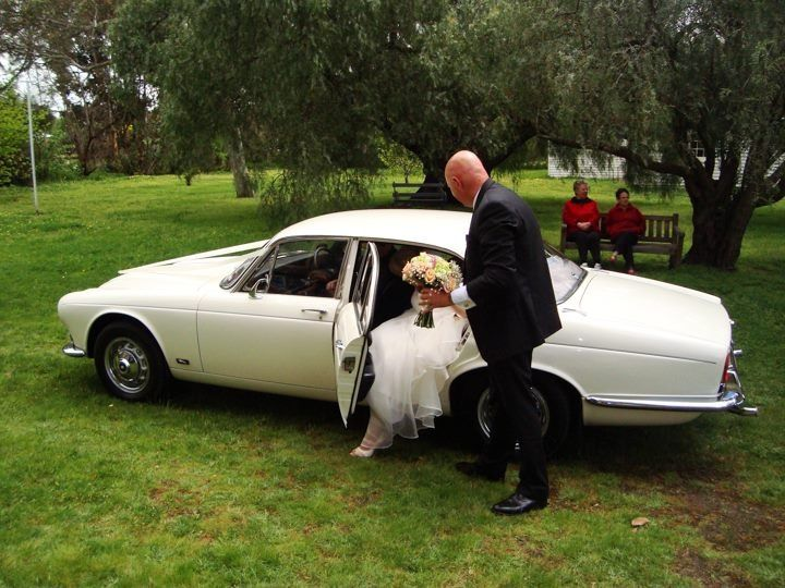 Vintage cars Wedding Father and daughter, one last moment.....