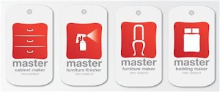 THE FURNITURE MASTER SEAL: No doubt you have heard of Master Builders, Master Plumbers and Master Electricians but have you heard of a Master Furniture Maker?    Well now you have. If a company has earned it, Furniture Makers can display the Furniture Master Seal, but there's not just one seal there are 4!   Master Cabinet Maker  Master Furniture Finisher  Master Furniture Maker  Master bedding Maker