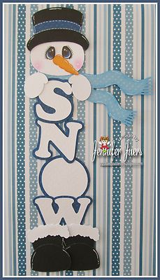 TOCG SNOWMAN, premade paper piecing, border, scrapbook page, winter, album,kids