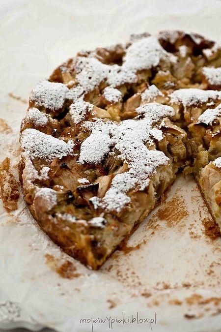 Szwedzkie ciasto z rabarbarem -