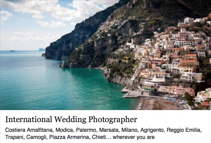 Nino can be there, for you, for shooting of your best wedding... were ever you are! © www.ninolombardo.it