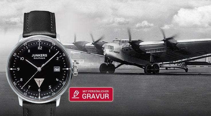 Junkers Uhren mit persönlicher Gravur online bestellen