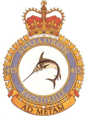 415 Squadron Badge - The Canadian Navy - ReadyAyeReady.com