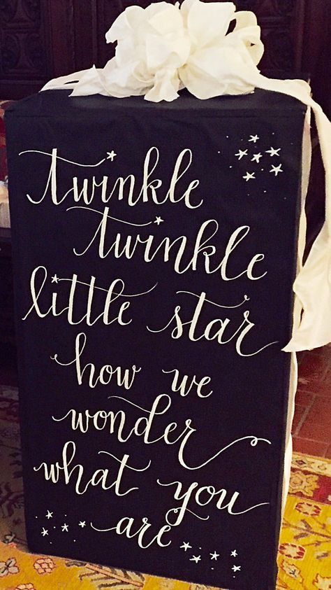 As Seen on Pinterest: Printable Gender Reveal Calligraphy Sign | Digital Download | Twinkle Twinkle Little Star by BethHuntCalligraphy on Etsy