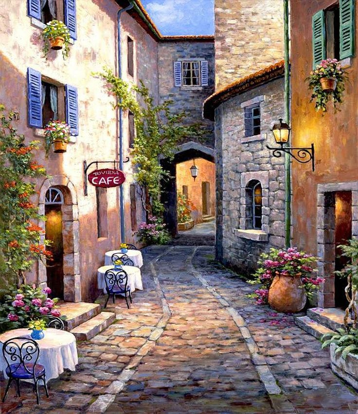 Lovely cobble stone street and homes