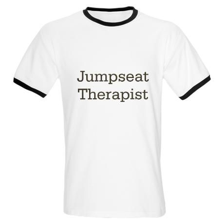 """""""Jumpseat Therapist""""  Flight Attendant Humor... I HAVE had to sit in a passenger seat & hold the hand of a frantic, afraid-of-flying woman before!  And us flight attendants do seem to spill our life stories & problems to each other in the jumpseats..."""