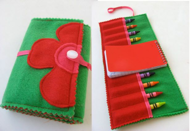 Felt Crayon Holder From HGTV's Design Happens Blog (http://blog.hgtv.com/design/2013/05/09/daily-delight-felt-crayon-holder/?soc=pinterest)