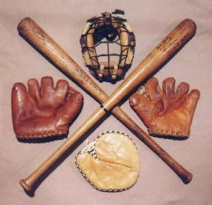 Image detail for -Sports Artifacts - Vintage Baseball Equipment