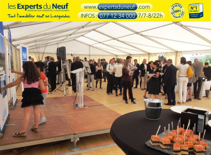 #immobilier #Montpellier Assistance nombreuse et attentive jusqu'à l'excellent buffet de clôture !