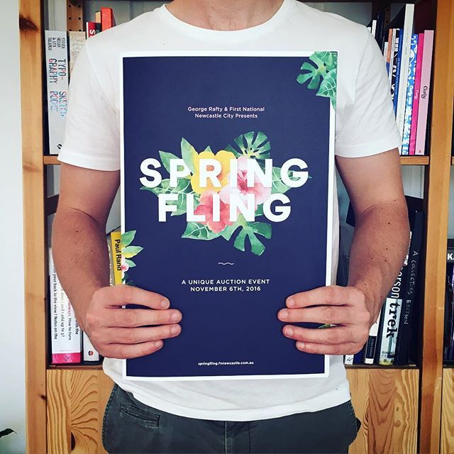 We recently collaborated with @longandco on the identity for the 2016 First National Spring Fling campaign. This incredible event is happening this Sunday with a portion of each sale going to @hmriaustralia