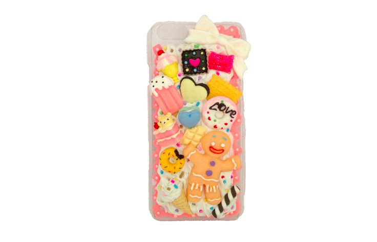 Super Kawaii Gingerbread Man decoden case cover for iPhone 6 by PepperAndSoda on Etsy