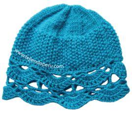 Tutorial: gorro tejido en dos agujas con cenefa o borde en crochet!