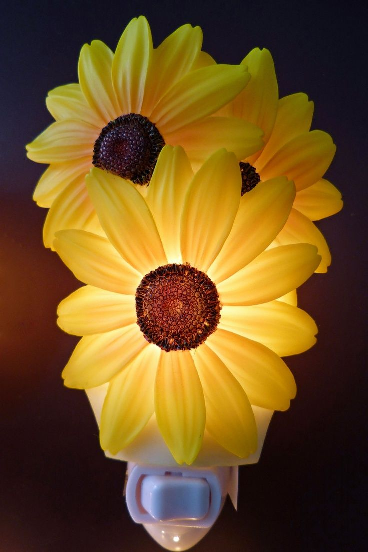 Sunflower bathroom accessories - Sunflower Kitchen Decor Sunflower Night Light