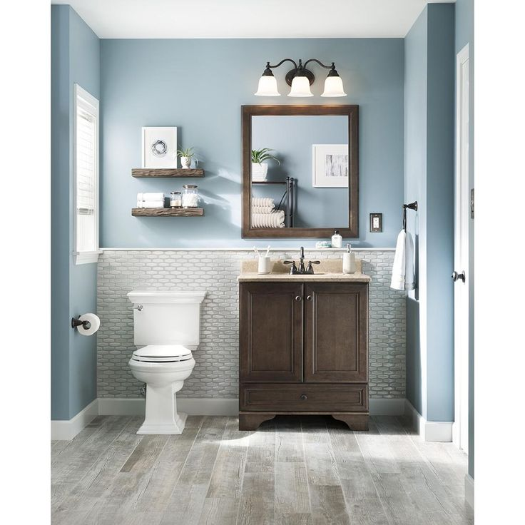 Flooring For Basement Bathroom: Shop Style Selections Natural Timber Whitewash Wood Look