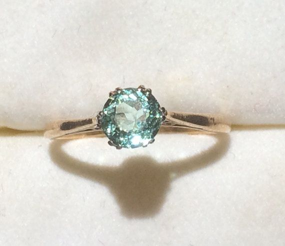 Hey, I found this really awesome Etsy listing at https://www.etsy.com/listing/247475637/vintage-aquamarine-ring-in-a-9k-yellow