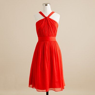i think i am adding the vivid poppy color dresses from jcrew to the mix of dress options