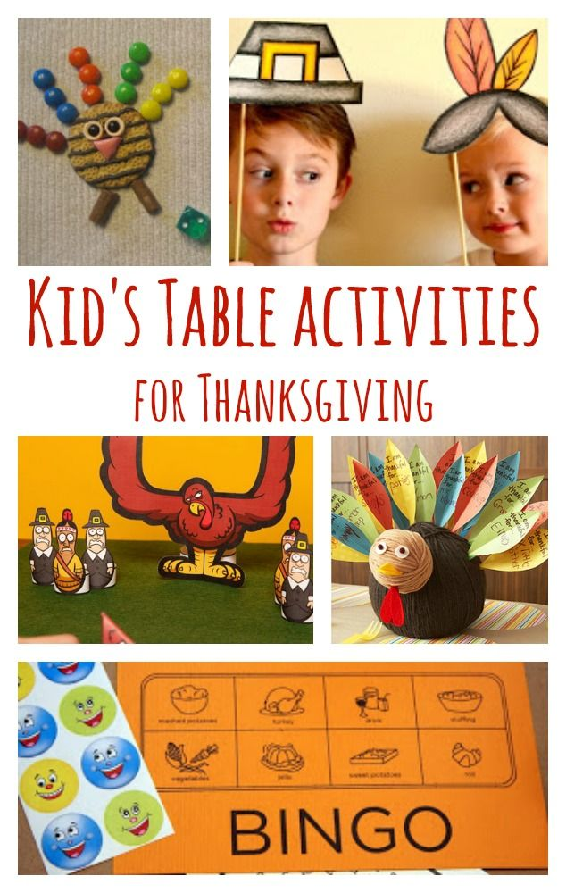 Thanksgiving kid s table ideas recipes crafts games