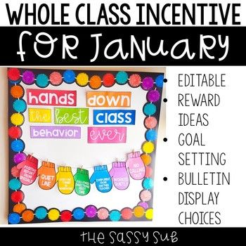 Positive Behavior Management: *Editable* January Incentive