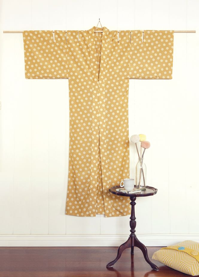 If you're feeling a bit dotty about the change of season, you'll love this gorgeous kimono-style robe – perfect for sunny spring mornings spent relaxing around the house. The long, slender silhouette and cut-out sleeve detail will give your normal breakfast routine a bit of a shake-up, and if someone unexpectedly knocks at the door, …