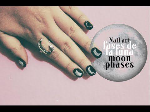 ▶ Diseno de uñas Fases de la luna- Nail art Moon phases ♥ - YouTube