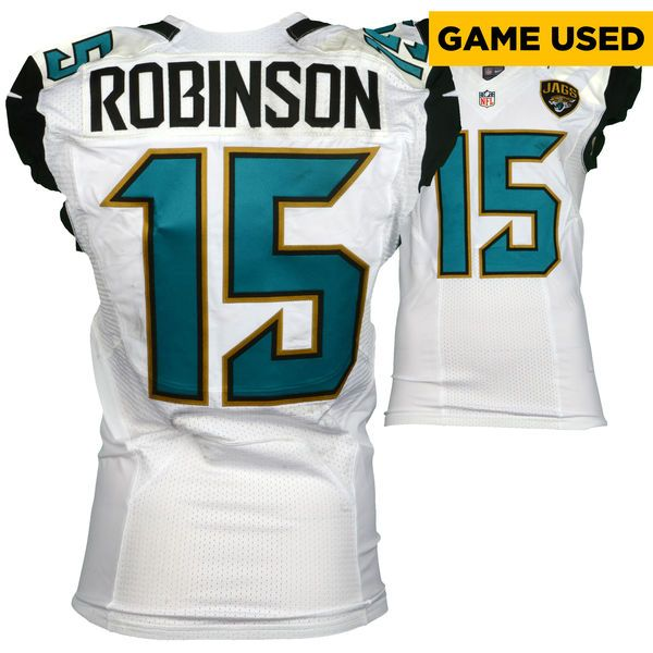 Allen Robinson Jacksonville Jaguars Fanatics Authentic Game-Used #15 White Jersey vs. Buffalo Bills on November 27, 2016 - $1999.99