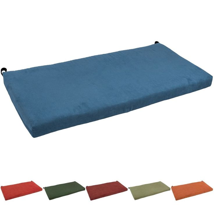 Blazing Needles 42-inch Microsuede Indoor Bench Cushion #BlazingNeedles