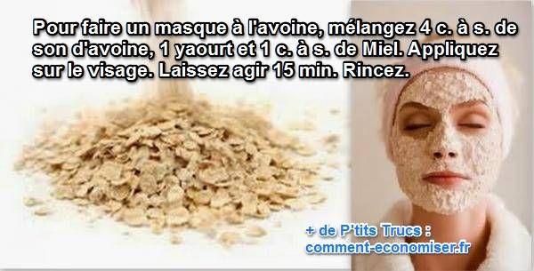 recette de masque éclat naturel au son d'avoine pour le visage