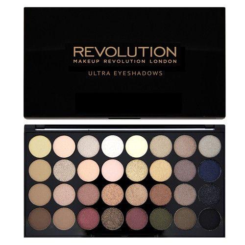 Makeup Revolution Paletka 32 očných tieňov Flawless