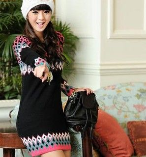 Buy '59 Seconds – Geometric Pattern Sweater Dress' at YesStyle.com plus more Hong Kong items and get Free International Shipping on qualifying orders.