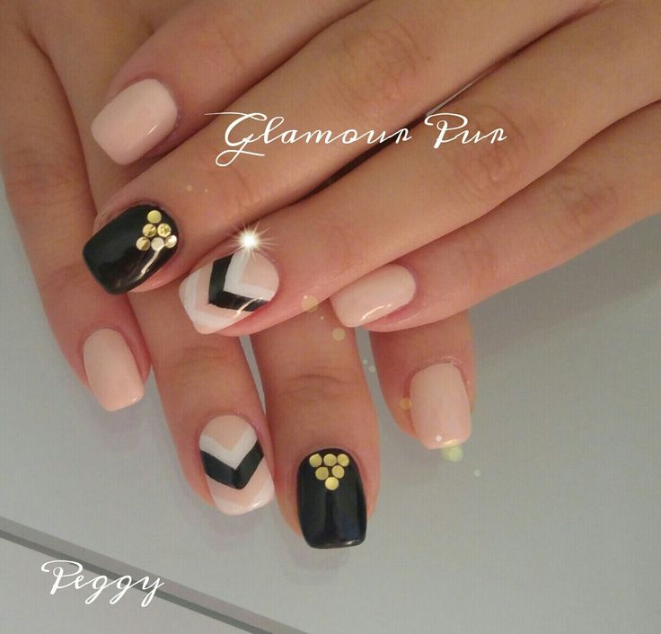 Nude, apricot, black, gold, glamour
