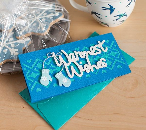 """Sometimes a card is needed """"just because""""...and this is a great card to give! Send someone """"Warm Wishes"""" to show you care....available as a """"Make it Now"""" project today in Design Space."""