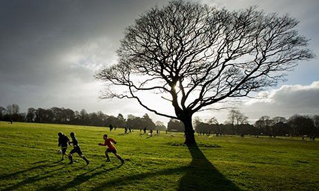 A Saturday morning training session at Woolton FC. The club has 62 teams but no toilet. Photograph: Christopher Thomond for the Guardian