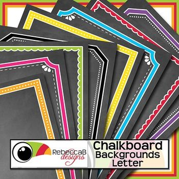 Chalkboard Backgrounds Letter contains 37 Letter size backgrounds with a chalkboard finish.  These Chalkboard Backgrounds will be perfect for your product covers, classroom posters, signs etc.  The frame is already on the background, so just add your text and clip art for a professional finish.