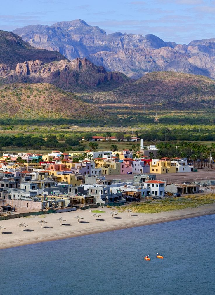 A picture of the town of Loreto, Mexico in Baja California Sur.