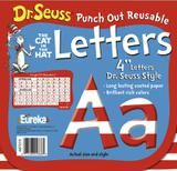 """Checkout the """"Dr. Seuss 4"""" Red & White Reusable Letters"""" product"""