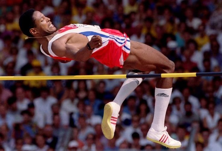 """Javier Sotomayor's record-setting high jump of 8' - 1/2"""". His world record, set on July 27th of 1993, has held for over two decades. He is the only athlete to have ever cleared 8 feet"""