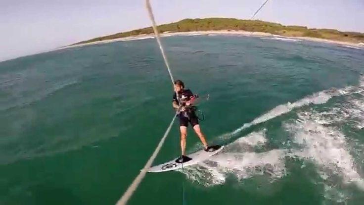 kitesurfing in Prasonisi GREECE (Bring It Back Silent Partner)