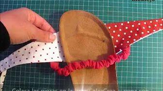 como hacer pantuflas de tela paso a paso - YouTube