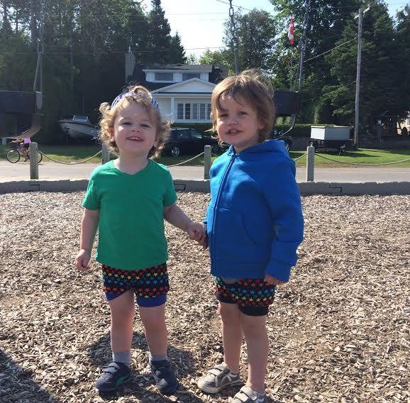 Little boys, little Teegy Shorts!