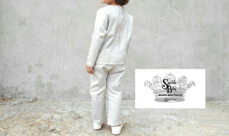 'Elegant Tailored Junior Lace Suit' (Back)