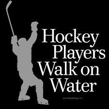 Hockey Players walk on water