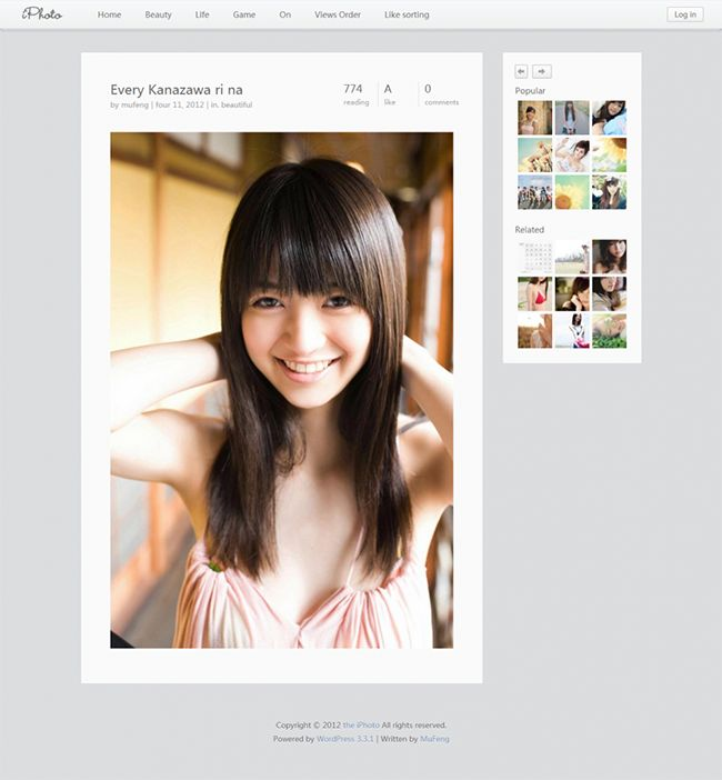 (GET) iPHOTO WordPress Theme 3.0.4