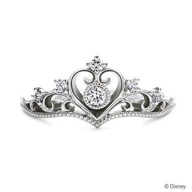 Princess Tiara Heart - プリンセスティアラ・ハート-| ディズニージュエリー | 結婚指輪・婚約指輪 | オーダーメイドブランドのケイ・ウノ オンラインショップ