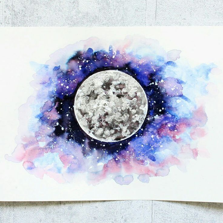 illustration moon drawing of a moon galaxy illustration aquarell planets in 2019 planet